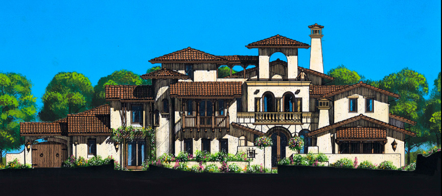 Italian villa house plans house plans home designs for Italian country home plans